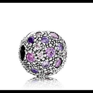 2 Cosmic Stars Clip with Purple and Pink Zirconia
